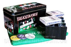 Набор для Покера Texas Holdem Poker Set 200 Фишек