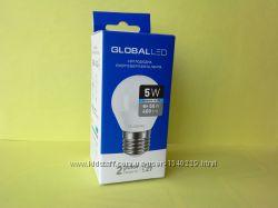 Лампочка светодиодная энергосберегающая Global Led E27 5 W оригинал