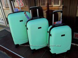 Супер цена Мятный чемодан для девочки детский малый чемодан Валіза