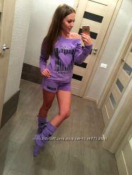 f1074ab1f26c8 Вау Теплый костюм для дома сапожки бесплатно Женская пижама флисовая