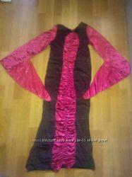 карнавальное платье Ведьма, королева с шляпой S, M Хеллоуин
