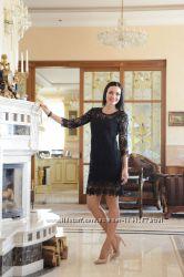 Красивое черное платье S-ка