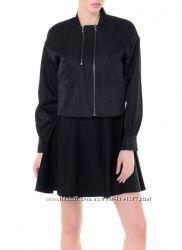 Чёрная ветровка куртка sisley