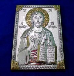 Лики Святих. Микола-Чудотворець. Ікона, покрита золотом і сріблом