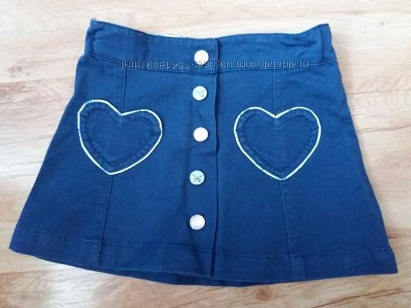 Джинсова юбка H&M 1. 5-2. 5р. в ідеальному стані.