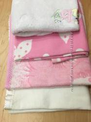 Одеяло байковое детское разных цветов