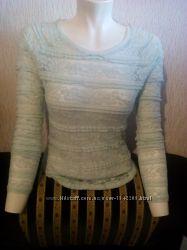 Продам ажурную блузку мятного цвета.