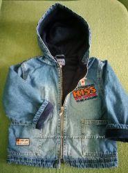 Джинсовая Куртка GLORIA JEANS на флисе, рост 98