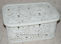 Корзина-ящик-коробка для хранения игрушек, ажурная, 10 л