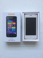 Телефон смартфон белый DIGMA LINX A400 3G на 2 sim карты