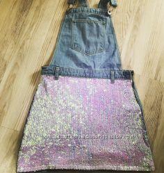 Продам джинсовый комбез-сарафан на девочку 11 лет