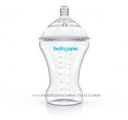 Бутылочка для кормления антиколиковая BabyOno Natural Nursing, 260 мл