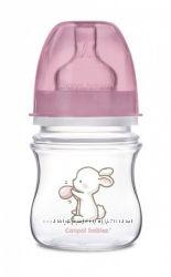 Пляшка з широким отвором антиколікова  - Little Cutie 120 мл, Canpol babies