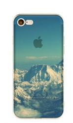 Прозрачный силиконовый чехол с горами iphone 7 8 в 3D