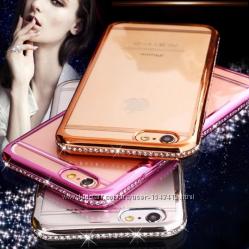 Защитные прозрачные силиконовые чехлы для iPhone 6 6S 7 8