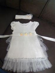 Платье и повязка на голову для девочки