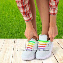 Шнурки для обуви силиконовые розовые, сиреневые