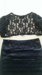 Комплект кружевное болеро и атласная юбка можно по отдельности