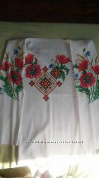 Заготовка для вишивки жіночої блузи на цупкому шовку