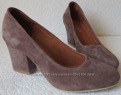 Nona женские качественные классические туфли замшевые красные взуття на каб 7010f154de1f7