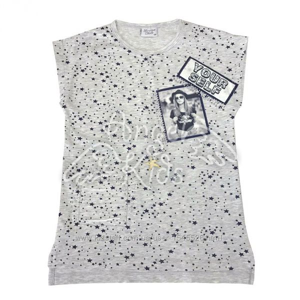 Модные футболки для девочек 128-152 рост Турция Breeze