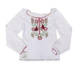 Вышиванки для девочек на коротком и длинном рукаве, рост от 98 до 128