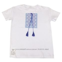 Вышиванки для мальчиков на коротком рукаве, рост от 98 до 128