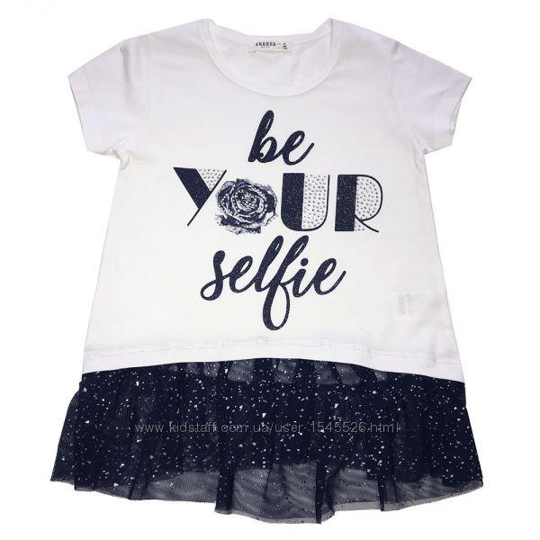 Красивые летние блузочки и футболки 116-152р. Breeze Girls
