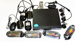 Видеорегистратор DVR KIT 8 HD720 4-канальный 4камеры в комплекте