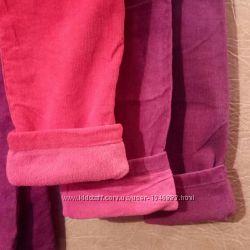 Утепленные вельветовые брюки на девочку