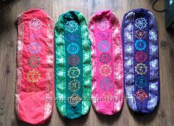 Чехол для коврика, йога, yoga, ручная работа, из Индии, чакры вышивка, новы