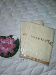 Полотенце кремовое с вышивкой Мary Кay, Мери Кей