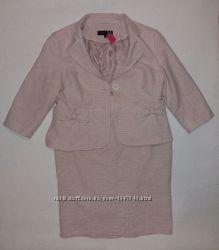 Шикарный, нарядный, нежный, пудровый, деловой, праздничный костюм, xxl54 р