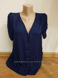 Легкая темно-синяя блуза H&M
