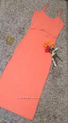 Очень красивое платье миди персикового цвета
