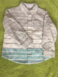 Детская рубашка для мальчика, 100 хлопок.