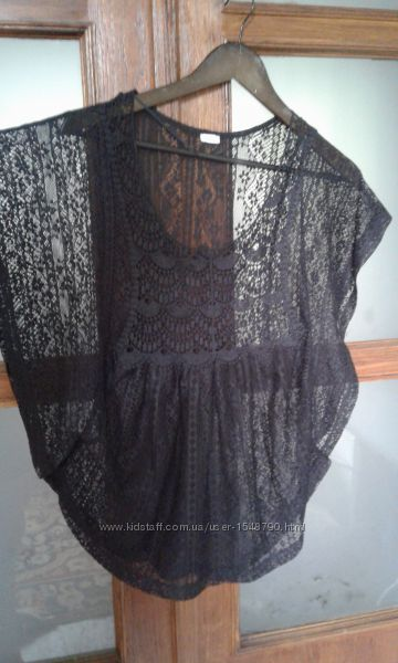 Ажурная пляжная накидка, блузка Pimkie