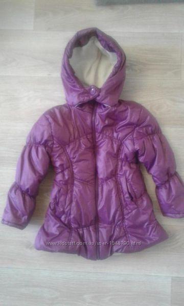 Тёплая деми куртка bombili на девочку 6-7 лет
