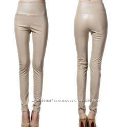 Новогодняя распродажа продам новые стильные кожаные брюки на флисе