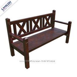 Скамейка трехместная