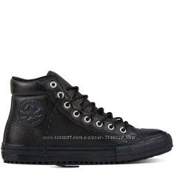 Ботинки Converse All Star Оригинал Чёрные Кожаные Конверсы