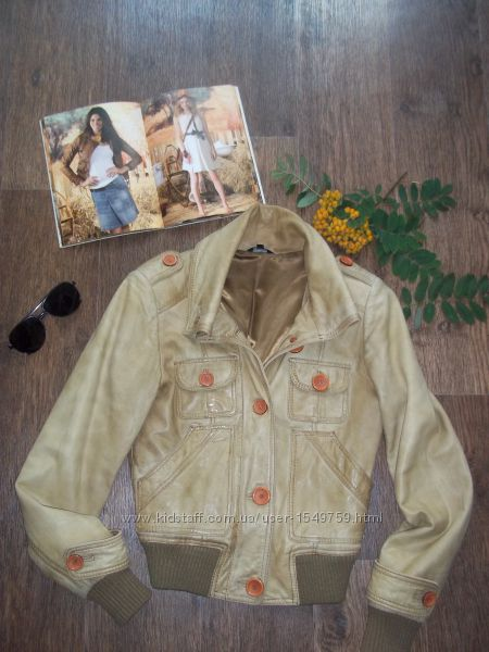 женские кожаные куртки евро  размер 38