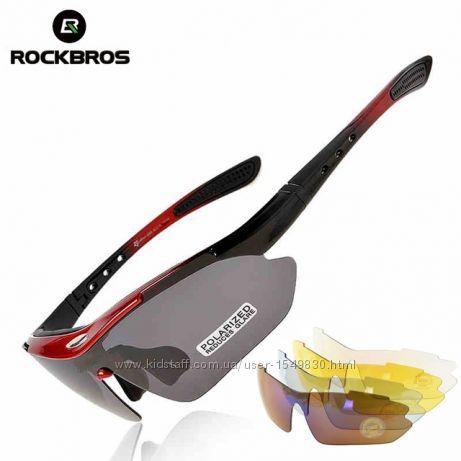 Спортивные солнцезащитные велоочки RockBros original polarized 5 в 1