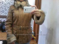 Дубленка пальто куртка женская, размер М