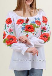 Вышиванка блуза с эффектом 3Д размеры   2XL