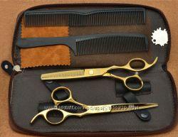Ножницы парикмахерские 5. 5 Kasho золотое напыление