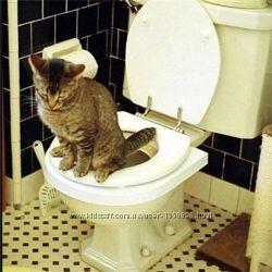 Citi Kitty набор для приучения кошки к унитазу туалет для котов