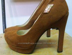 туфли коричневые иск. замша