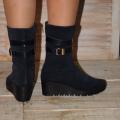 Sofi осенние женские ботинки натуральная замша синего цвета, 1050 ... 9157b28cb4c