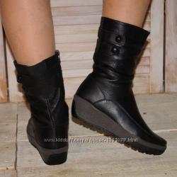 Ботинки из натуральной кожи на устойчивой подошве